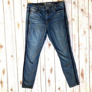 GAP 14/32 True Skinny Jeans Velvet Side Stripe